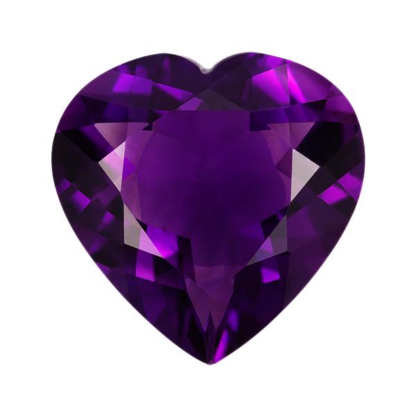 Heart Genuine Amethyst Single Stone(s)