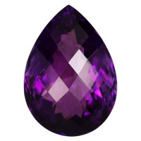 Pear Genuine Amethyst Single Stone(s)