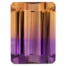 Cushion Genuine Ametrine Single Stone
