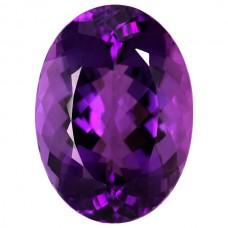 Oval Genuine Amethyst Single Stone(s)