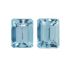 Octagon Genuine Aquamarine Single Stone(s)