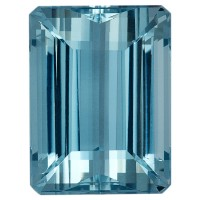 Octagon Genuine Aquamarine Single Stone