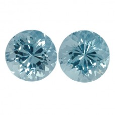 Round Genuine Aquamarine Single Stone(s)