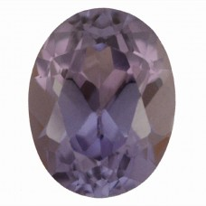 Oval Simulated Amethyst Doublet
