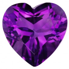 Heart Shape Genuine Amethyst