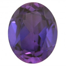 Oval Simulated Amethyst