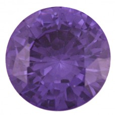 Round Simulated Amethyst