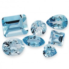 Aquamarine Genuine Faceted