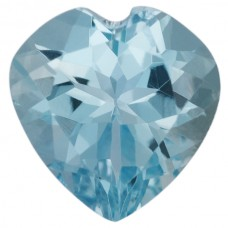 Heart Genuine Aquamarine