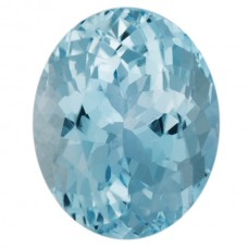 Oval Genuine Aquamarine