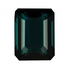 Octagon Genuine Blue-Green Indicolite Single Stone(s)