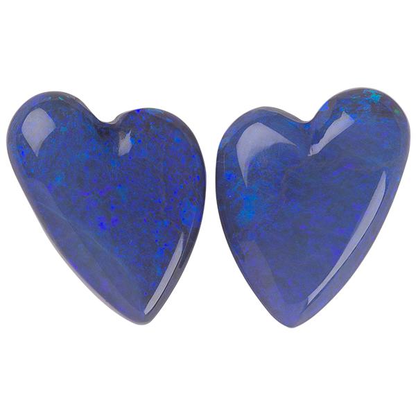 Heart Genuine Black Opal Single Stone(s)