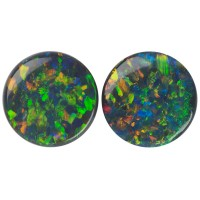 Round Genuine Black Opal Single Stone(s)