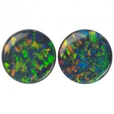 Round Genuine Black Opal Single Stone(s)