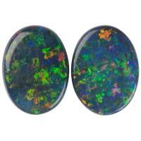 Oval Genuine Black Opal Single Stone