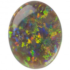 Oval Genuine Black Opal Single Stone(s)