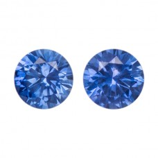 Round Genuine Blue Sapphire Single Stone(s)