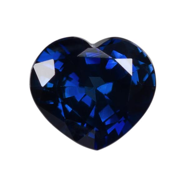 Heart Genuine Blue Sapphire Single Stone(s)