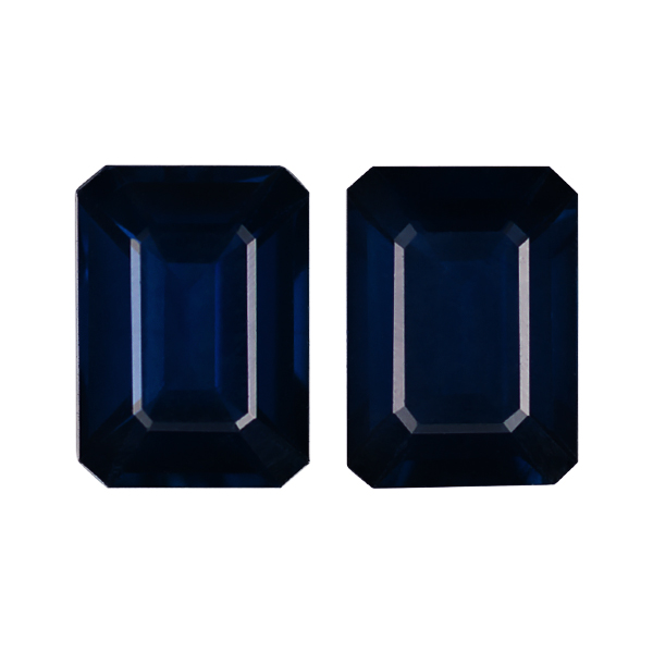 Octagon Genuine Blue Sapphire Single Stone(s)