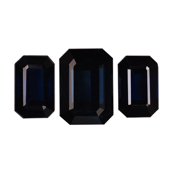 Octagon Genuine Blue Sapphire Single Stone(s)