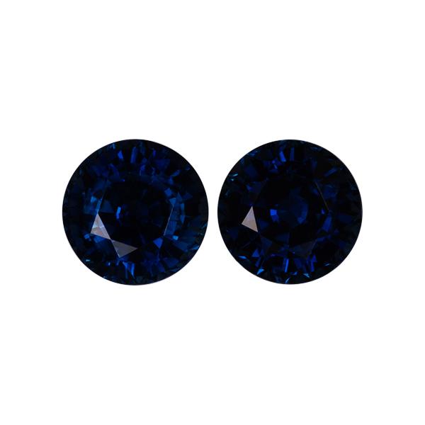 Round Genuine Blue Sapphire Single Stone(s)