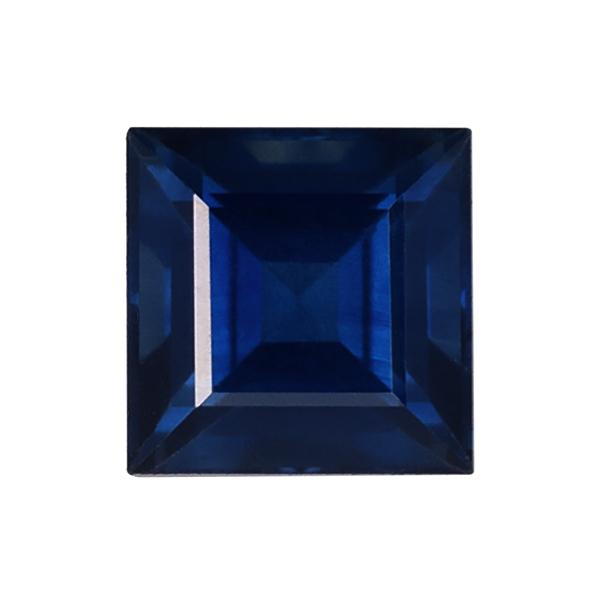 Square Genuine Blue Sapphire Single Stone(s)