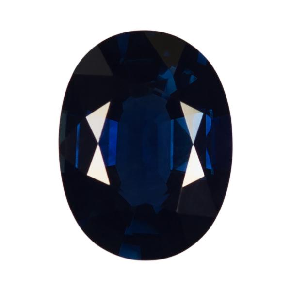 Oval Genuine Blue Sapphire Single Stone(s)