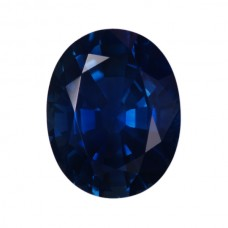 Oval Genuine Blue Sapphire Single Stone(s)