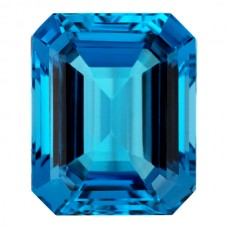 Octagon Genuine Blue Topaz Single Stone(s)