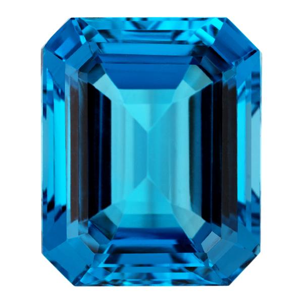 Octagon Genuine Blue Topaz Single Stone(s)