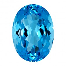 Oval Genuine Blue Topaz Single Stone(s)