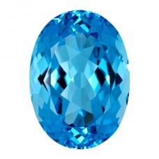Oval Genuine Blue Topaz Single Stone(s)