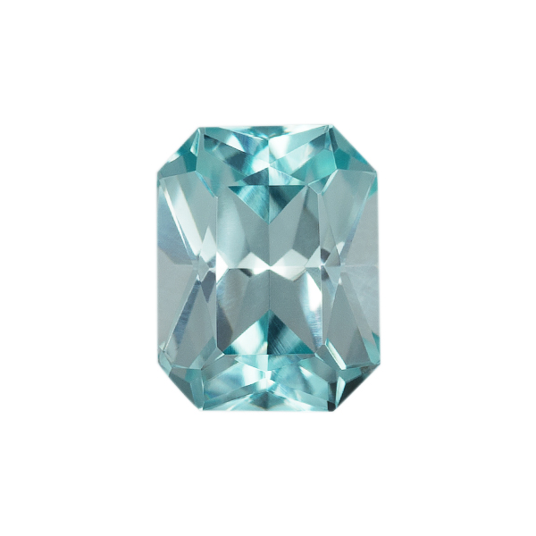 Octagon Genuine Blue Zircon Single Stone(s)
