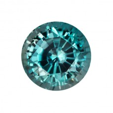Round Genuine Blue Zircon Single Stone(s)