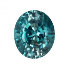 Oval Genuine Blue Zircon Single Stone(s)