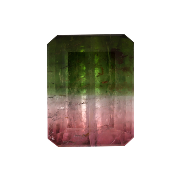 Octagon Genuine Bicolor Tourmaline Single Stone(s)