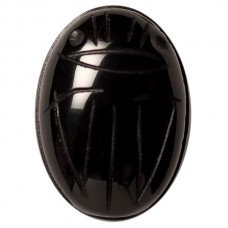 Oval Genuine Scarab Black Onyx