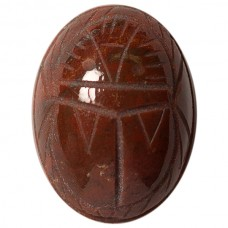 Oval Genuine Scarab Bloodstone