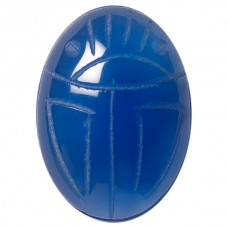 Oval Genuine Scarab Blue Onyx
