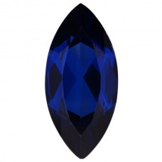 Marquise Lab Created Blue Sapphire