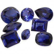 Blue Sapphire Synthetic Faceted