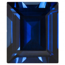 Cushion Synthetic Blue Sapphire