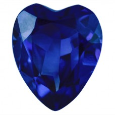 Heart Synthetic Blue Sapphire