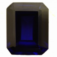 Octagon Synthetic Blue Sapphire