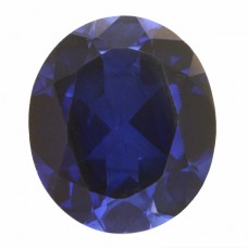Oval Synthetic Blue Sapphire