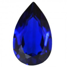 Pear Synthetic Blue Sapphire