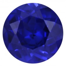Round Synthetic Blue Sapphire