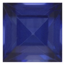 Square Synthetic Blue Sapphire