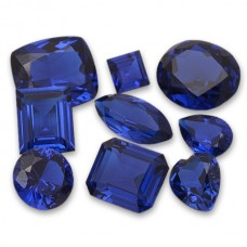 Blue Spinel Synthetic Faceted