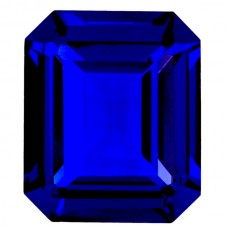 Octagon Synthetic Blue Spinel